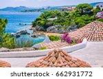 roofs of mediterranean houses... | Shutterstock . vector #662931772