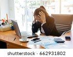 business woman feeling stress... | Shutterstock . vector #662931802