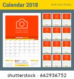 Vector Monthly Calendar Planne...