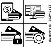 online payment icons set icon | Shutterstock .eps vector #662941615