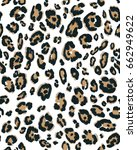 abstract animal skin. leopard... | Shutterstock .eps vector #662949622