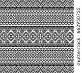 seamless pattern with tribal... | Shutterstock .eps vector #662950732