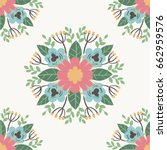 floral flower pattern ornament... | Shutterstock .eps vector #662959576