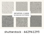 collection of seamless memphis... | Shutterstock .eps vector #662961295