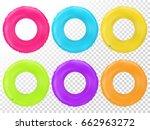 swim rings set. inflatable... | Shutterstock .eps vector #662963272