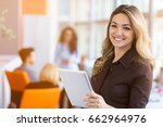 portrait of young business... | Shutterstock . vector #662964976
