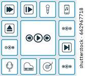 multimedia icons set....