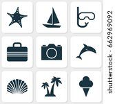season icons set. collection of ... | Shutterstock .eps vector #662969092