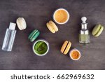 natural skincare facial and... | Shutterstock . vector #662969632
