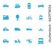 set of 16 transport icons set... | Shutterstock .eps vector #662978026