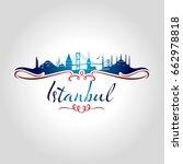 istanbul logo vector...   Shutterstock .eps vector #662978818