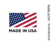 vector made in usa sign | Shutterstock .eps vector #662978896