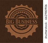 Big Business Retro Wooden Emblem