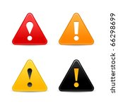 Attention Warning Icon Web 2.0...