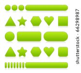 blank green web 2.0 buttons... | Shutterstock .eps vector #66298987