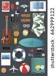 summer stuff set collection... | Shutterstock .eps vector #662999122