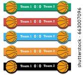 set score of the basketball... | Shutterstock .eps vector #663007096