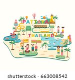 pattaya  the popular place in... | Shutterstock .eps vector #663008542