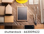 design concept with material...   Shutterstock . vector #663009622