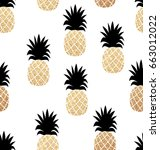 seamless summer pattern with... | Shutterstock .eps vector #663012022