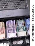 an open cash register | Shutterstock . vector #663015502