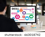 skill professionals working... | Shutterstock . vector #663018742