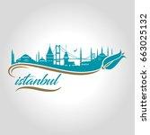 istanbul logo vector...   Shutterstock .eps vector #663025132