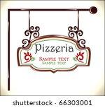 pizzeria sign | Shutterstock .eps vector #66303001