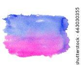 abstract watercolor art hand... | Shutterstock . vector #663030355