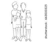 family grandparents... | Shutterstock .eps vector #663033325