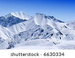 snow covered beautiful mountain ...
