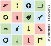 set of 16 editable tools icons. ...
