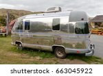 Small photo of Airstream trailer . American brand of luxury trailers. Polished aluminum coachwork. Burkes Pass Arts and Craft Shop. New Zealand, South Island. 19 March 2017