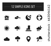 set of 12 editable air icons....