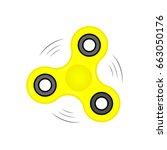 fidget spinner in flat style | Shutterstock .eps vector #663050176