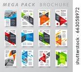 mega pack brochure design... | Shutterstock .eps vector #663058972