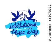 international day of peace.... | Shutterstock .eps vector #663070312