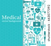 medical background. vector... | Shutterstock .eps vector #663077392