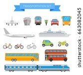 vector set of different... | Shutterstock .eps vector #663082045