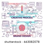 vector set of banners with... | Shutterstock .eps vector #663082078