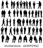 vector  isolated  silhouette of ... | Shutterstock .eps vector #663092962