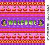 vector design of welcome... | Shutterstock .eps vector #663095326