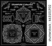 vector steampunk elements for... | Shutterstock .eps vector #663101932