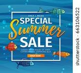 template design banner for... | Shutterstock .eps vector #663106522