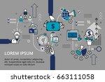 startup business and teamwork... | Shutterstock .eps vector #663111058