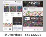 social media posts set.... | Shutterstock .eps vector #663122278