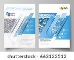business templates for brochure ... | Shutterstock .eps vector #663122512