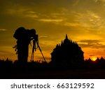 plaosan temple   candi plaosan | Shutterstock . vector #663129592