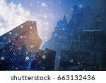 double exposure business...   Shutterstock . vector #663132436