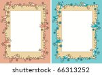 baby shower photo frame with... | Shutterstock .eps vector #66313252
